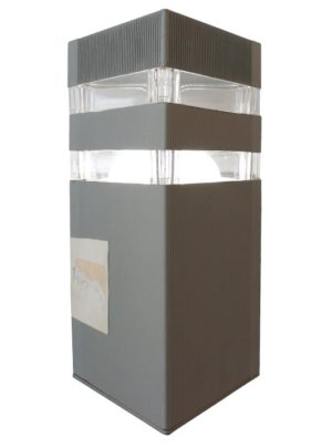 Square Outdoor Light (Grey)