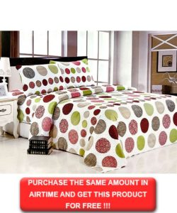 Queen Bedding Red And Green Polka Dot Set